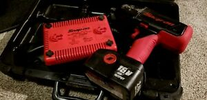 Snap on 18v Cordless Impact Ct4850ho W battery Charger And Case