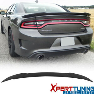 Fits 15 21 Dodge Charger Rear Trunk Spoiler Wing Abs Matte Black Hellcat Style