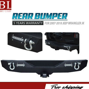 Front Bumper Combo Fit Jeep Wrangler Tj 97 06 With 2pc Led Light And Winch Plate