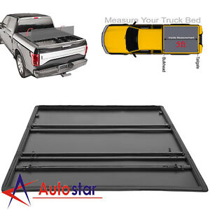 Soft Tri Fold Tonneau Cover For 2016 2019 Toyota Tacoma 5ft Truck Bed 5