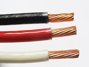 25 Ea Thhn Thwn 8 Awg Gauge Black White Red Stranded Copper Building Wire