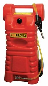 Fuel Caddy Polyethylene Material 25 Gal Capacity Used For Gasoline Diesel