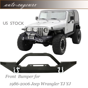 Fits 97 06 Jeep Wrangler Tj Front Bumper Winch Plate D Ring Rock Crawler