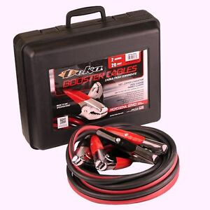 2 Gauge 20 Foot Booster Jumper Cables Car Battery Charger Tool Durable Usa Made