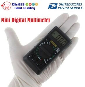 Mini Digital Multimeter With Buzzer Overload Protection Pocket Volt Amp Ohm Usa