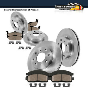 Front And Rear Oe Rotors Ceramic Pads For 2002 2003 2004 2005 Hyundai Elantra