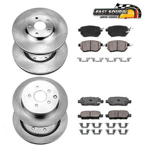 Front Rear Rotors Ceramic Pads For Fx35 Fx45 Nissan Murano