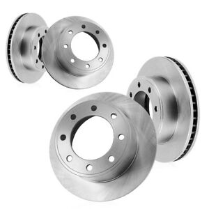 Front And Rear Premium Brake Rotors For 2000 2001 2002 Dodge Ram 2500 3500