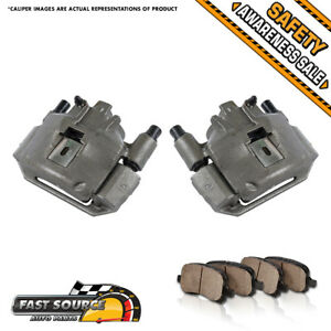 Front Brake Calipers And Ceramic Pads For 1994 1998 Ford Mustang Base Gt V6 V8