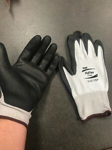 12 Pairs Ansell 11 624 Hyflex Dyneema Lycra Gloves Cut Resistant Size 9