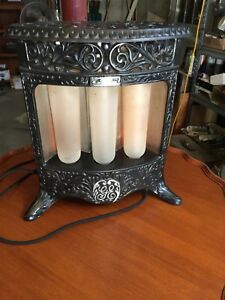 Antique Ge Type A37 Cast Iron Electric Heater With Three Working Bulbs 1905