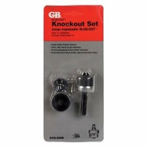 Gb Slug out Stainless Steel 1 2 In Sae Knockout Set 2