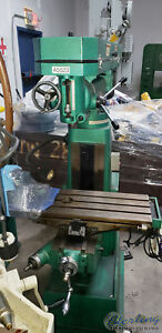 10 X 33 Used Grizzly Wood metal Vertical Milling Machine Mdl G9977 A5523