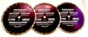 14 Diamond Blade For Cured Concrete With Steel And Rebar 3 Pk