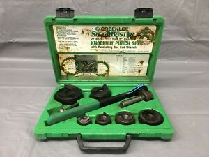 Used Greenlee 7238sb Slug Buster 1 2 2 Knockout Punch Set