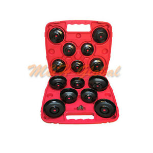 14 Pc 3 8 Drive Oil Filter Wrench Socket Cup Type Oil Filter Cap Tool