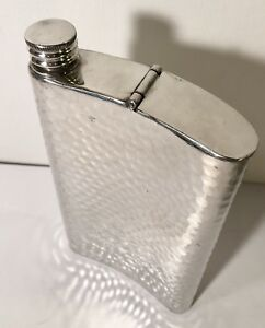 Nat Sherman Vintage Silver Plated Mad Men Flask W Cigar Holder