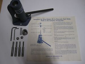Vintage Lachmiller Bench Priming Tool Adapter Kit to use Standard Shell Holders