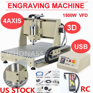 Usb 4 Axis 1 5kw 6040 Router Engraver Metal Engraving Mill Machine controller