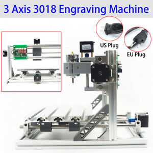 Diy 3 Axis Cnc 3018 Engraving Carving Pcb Milling Router Engraver Machine Ups