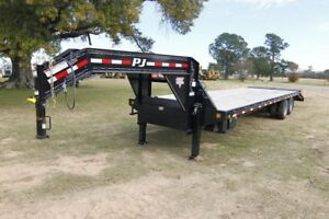 Pj Trailer 32ft Classic Gn With Hydraulic Jacks And Monster Ramps