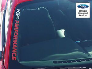 Mustang Ford Performance Side Windshield Sticker Vinyl Graphics Licensed Decal