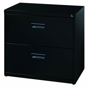 Space Solutions 30 Wide 2 drawer Office Lateral File Cabinet Black