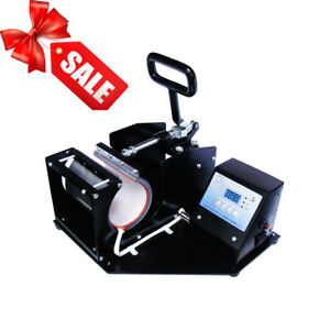Usa Double Station Heat Press Transfer Sublimation Machine For Cup Coffee Mug