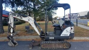 Bobcat 324 Excavator Work Ready Bucket And Clamp Mx Digger Mini 1 5 Ton