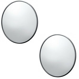 2 1947 1972 Chevy Truck 5 Round Side Mirrors Smooth Style Black Housings