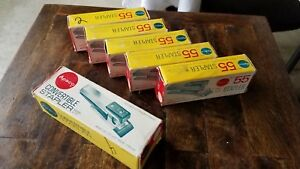 6 Vintage Old Stock Apsco Stapler s 5 X 55 And 1 X A 77