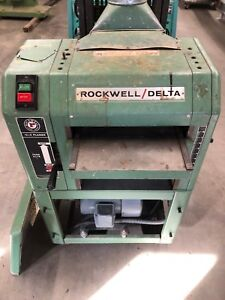 Rockwell Delta Thickness Planer 22 401 13 X 6 Variable Speed Planer