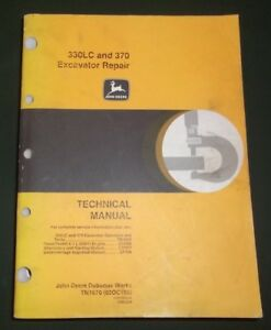 John Deere 330lc 370 Excavator Technical Service Shop Repair Manual Book Tm1670