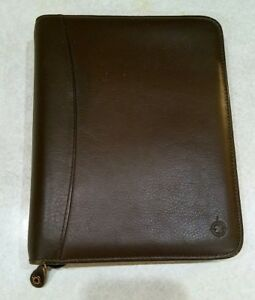 Franklin Covey Brown Full Grain Nappa Leather Classic Cl12215 Planner Binder