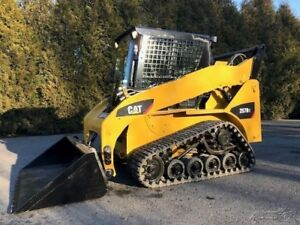2008 Caterpillar 257b2 Rubber Track Skid Steer Cab Ac Cat Track Loader
