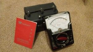 Triplett Model 630 ns Meter With Original Case And Owner s Manual