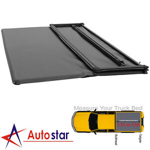 Soft Tri folding Tonneau Cover For 2009 2019 Dodge Ram Crew Cab 5 7ft 5 8ft Bed