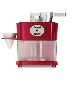 Snow Cone Maker Red Electric Shaved Ice Commercial Crusher Removable Bin