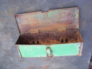 Vintage Oliver 1600 1650 Tractor fender Mount Tool Box Rusty