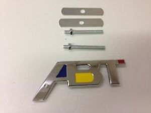 Abt Sportsline Grill Badge Emblem Metal For Vw Volkswagen Chrome