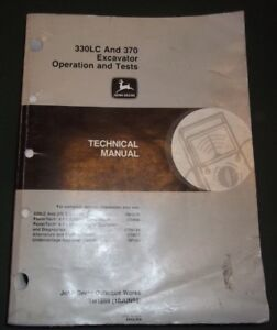 John Deere 330lc 370 Excavator Technical Service Shop Op Test Manual Book Tm1669