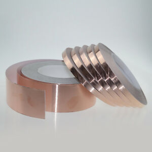 50m Single sided Conductive Adhesive Copper Foil Emi Shield Tape 5 100mm Width