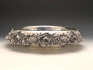 Redlich Company Ornate Centerpiece Bowl Sterling Silver Early New York