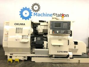 Okuma Lu 15mw Cnc Sub Spindle Live Tool Turning Center Lathe Doosan Mori