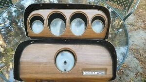 1969 1970 Mustang Mach 1 Shelby Cobrajet Wood Teak Dash Cluster With Mach 1