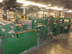 52 Corrugating embossing Cut To Length Line W Hole Punching 113977