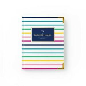 New Emily Ley 2019 Weekly Signature Simplified Planner Thin Happy Stripe