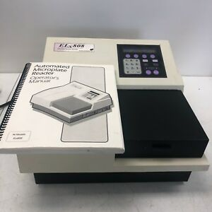 Biotek Instruments Elx808iu Absorbance Microplate Reader Unit W Manual Tested
