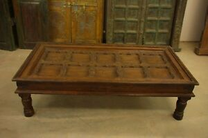 Coffee Table With Antique Indian Door