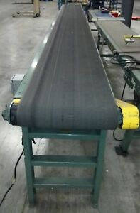 22 X 28 Hytrol Brand Powered Inclined Belt Conveyor 110 Vac dc Variable Speed
